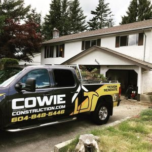 cowie construction truck